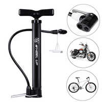 WHEEL UP Bike Tire Pump 120 PSI Floor Standing Bike Tire Basketball Pump Motorcycle Tyre Hand Inflator