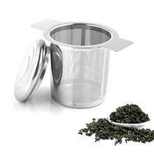 2 ручки чай для заварки корзина многоразовые тонкой сетчатый фильтр для чая крышкой Чай и фильтры для кофе Нержавеющаясталь сетки фильтры для раковины B4