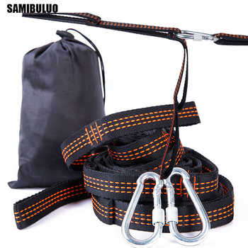 SAMIBULUO Super Strong Bandage Hammock Belts Hanging Tree Outdoor Camping Hiking Tool Hammock Rope 2pcs hooks - DISCOUNT ITEM  39% OFF All Category