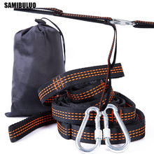 SAMIBULUO Super Strong ผ้าพันคอเปลญวนเข็มขัดแขวนต้นไม้กลางแจ้ง Camping Hiking เครื่องมือเปลญวนเชือกตะขอ 2 ชิ้น