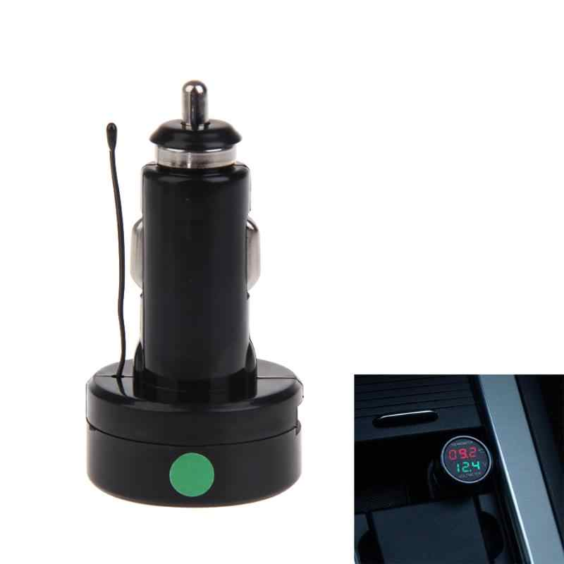 2 ב 1 DF-01-TV רכב סוללה צג מד מתח מדחום אדום ירוק כחול דיגיטלי תצוגת רכב מתח מדידת כלי 7.2*3.8cm