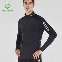 Willarde мужские спортивные рубашки для бега с длинным рукавом быстросохнущие дышащие для пробежки тренировки спортивные майки топы с карманом на молнии