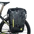 Водонепроницаемая велосипедная сумка для велосипедной задней стойки  сумка для велосипедного заднего сиденья  25L сумка на плечо  Аксессуар...