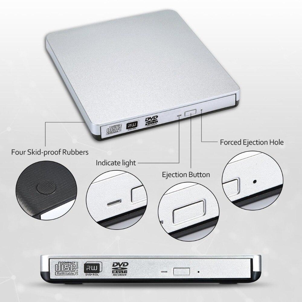 USB 2.0 Grabadora de DVD-RW Reproductor de DVD externo CD / DVD ROM - Componentes informáticos - foto 2