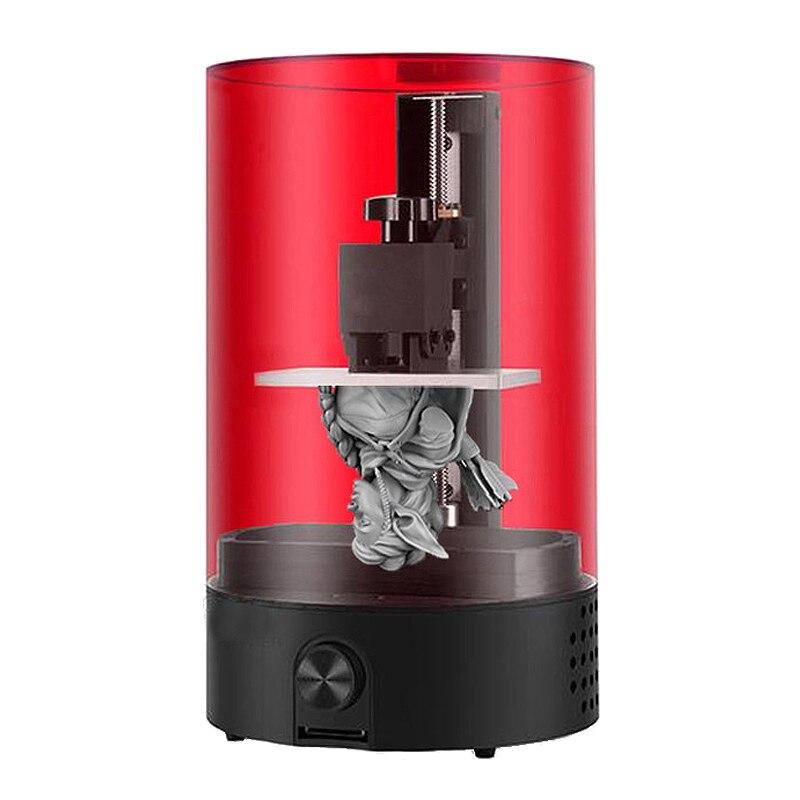 LightCuring Desktop UV Resin SLA 3D Printer 98X55X125mm Build Volume Small 3D Printer Support off line print LED indicator light