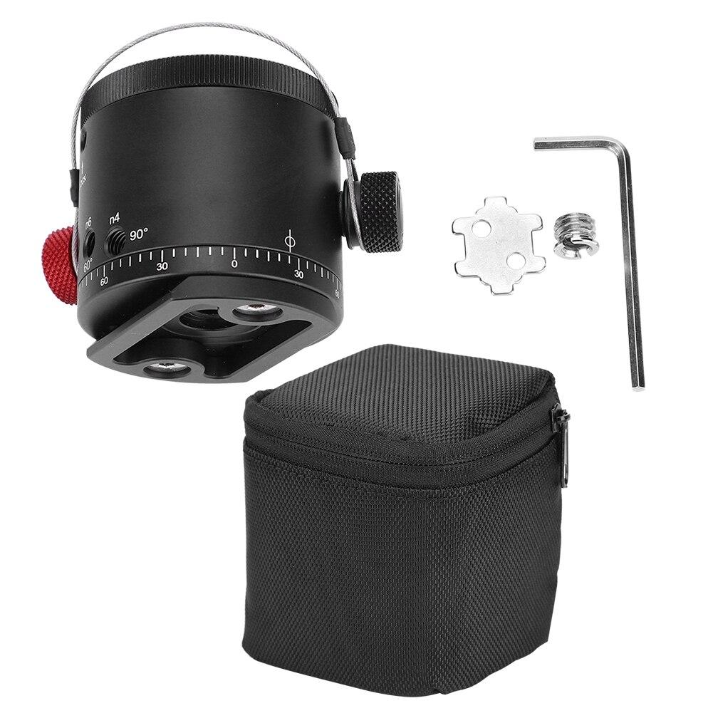 Dh-55d 360 Graden Panoramisch 10 Stopt Klik Indexering Rotator Ball Head Voor Camera Statief Met 1/4 ''tot 3/8'' Schroef Nieuwe