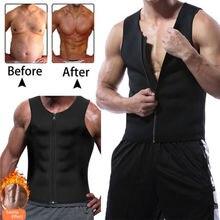 6a55607aea New Men s Slimming Neoprene Vest Sweat Shirt Body Shaper Waist Trainer Shapewear  Men Top Shapers Clothing