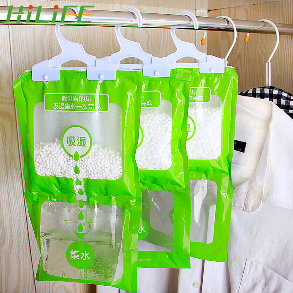 Closet Cabinet Dehumidifier Bag Wardrobe Hanging Moisture Absorbent Bags Hygroscopic Drying Agent Anti-Mold Desiccant Packets