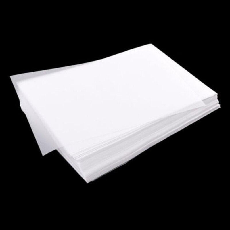 100 pièces Set papier calque translucide calligraphie artisanat écriture copie dessin feuille papier pour traçage Scrapbooking