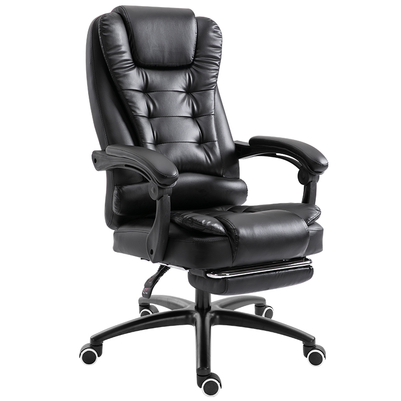 Купить с кэшбэком Household Computer Work leather Office chairs foot furniture gaming game ergonomic working Chair Lift Swivel Massage Footrest