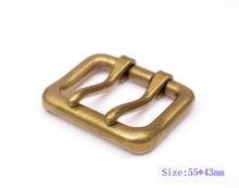 55*43mm masculino latão duplo língua pino prong diy fivela de cinto de metal se encaixa 40mm correias