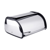 1pcs Stainless Steel Durable Simple Bread Case Breadbox Storage Box for Hotel Store Home