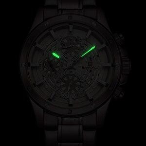 Image 3 - Relógio à prova dwaterproof água 24 horas relógio de pulso de negócios de aço completo relógios de quartzo criativo masculino topo de luxo marca naviforce