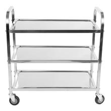 Large 3 Tier Stainless Steel Catering Trolley Cart Serving Clearing with Brake Tools tanie tanio Hotel Restaurant Trolley Stal nierdzewna