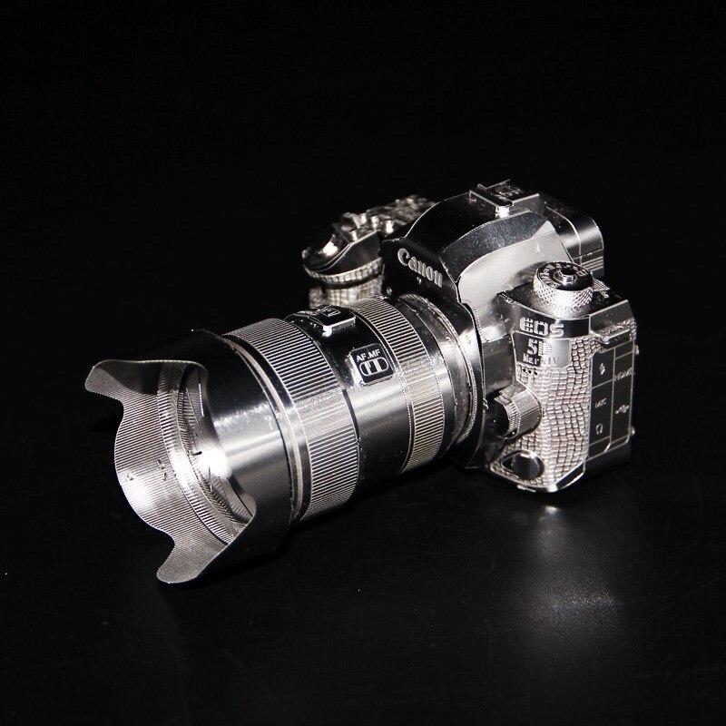 MMZ MODEL 3D Metal Puzzle Camera Canon Building Model Kits  DIY 3D Laser Cut Jigsaw Toys For Adult