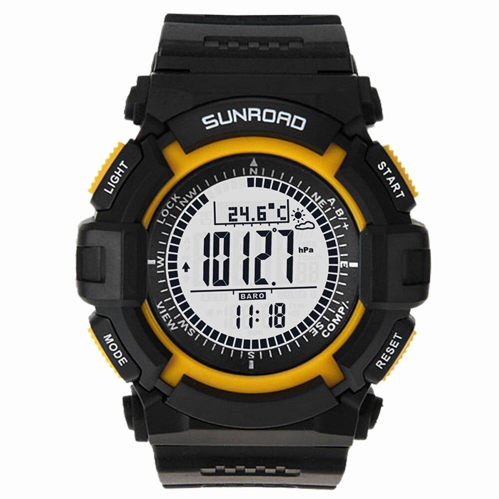 Sunroad FR820A 3ATM altimètre étanche boussole chronomètre pêche baromètre podomètre Sports de plein air montre outils de pêche