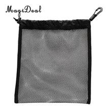 Durable Snorkeling Diving Mesh Nets Bag Pouch Kayak Boat Golf Tennis 30 Ball Carrying Holder Storage Clip On Caddy Pouch 20x24cm