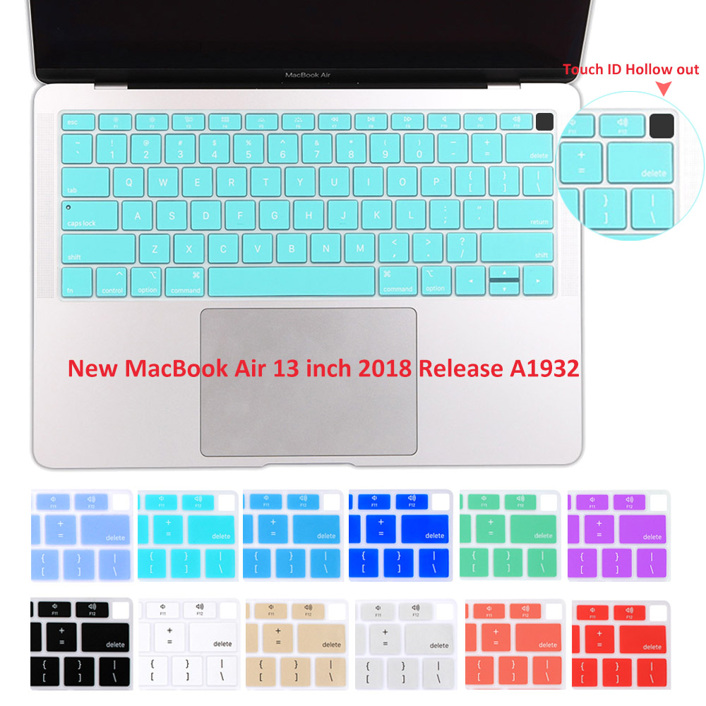 Independent Redlai Silicone Soft Tpu Keyboard Cover For Apple Macbook Newest Air 13 2018 A1932 English Alphabet Keyboard Skin Protector Supplement The Vital Energy And Nourish Yin Keyboard Covers