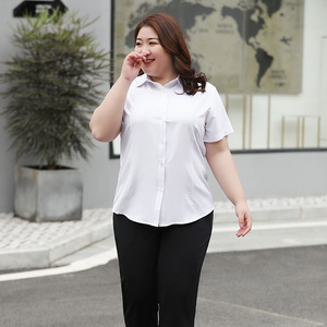 Image 5 - Gömlek bluz kadınlar artı boyutu 5XL 6XL 7XL 8XL 10XL bayan üstleri ve bluzlar şifon beyaz gömlek yaz ofis bayanlar resmi Blusa
