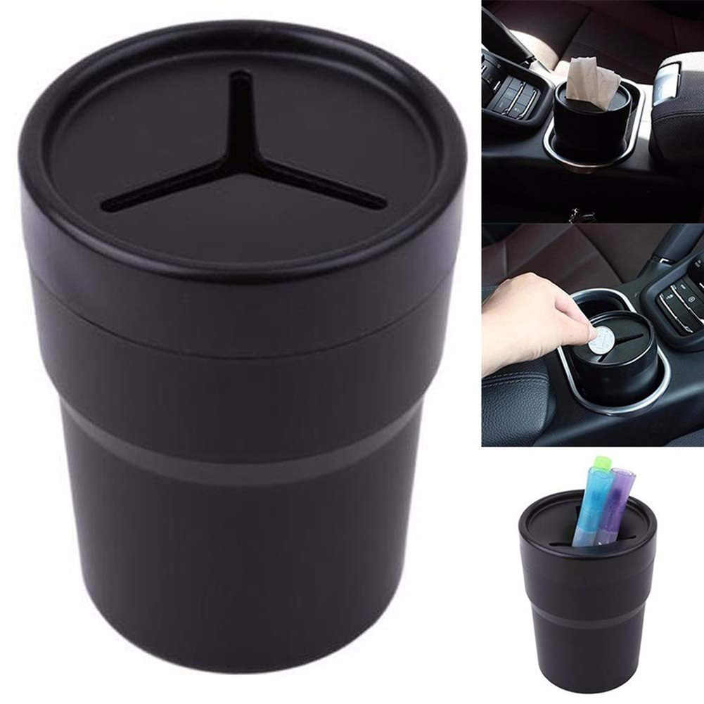 Multifunctional Car Mini Pen Tissue Coin Holder Box Trash Bin Container Car Interior Parts
