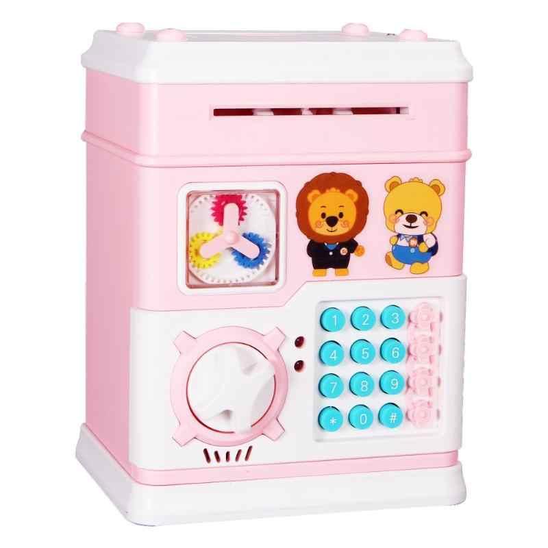 Music Piggy Bank Safe Box Story Money Bo For Children Digital Coins Cash Saving Deposit Mini Atm Machine Christmas Gifts