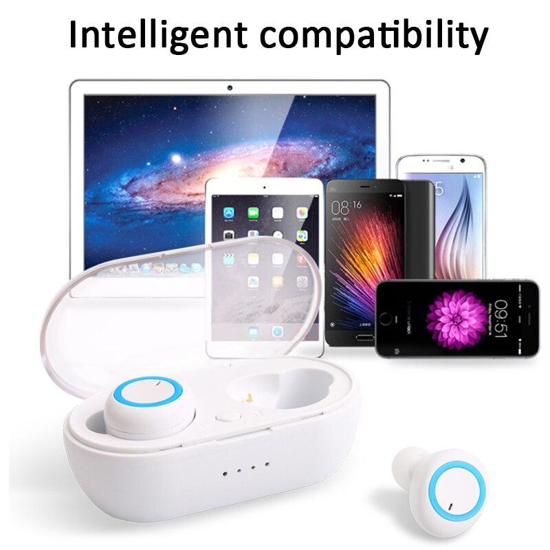 New Bluetooth Earphone TWS Wireless Mini Bluetooth 5 0 Earphone Stereo Sport Bluetooth Earbuds With Mic Portable Charging Box in Bluetooth Earphones Headphones from Consumer Electronics
