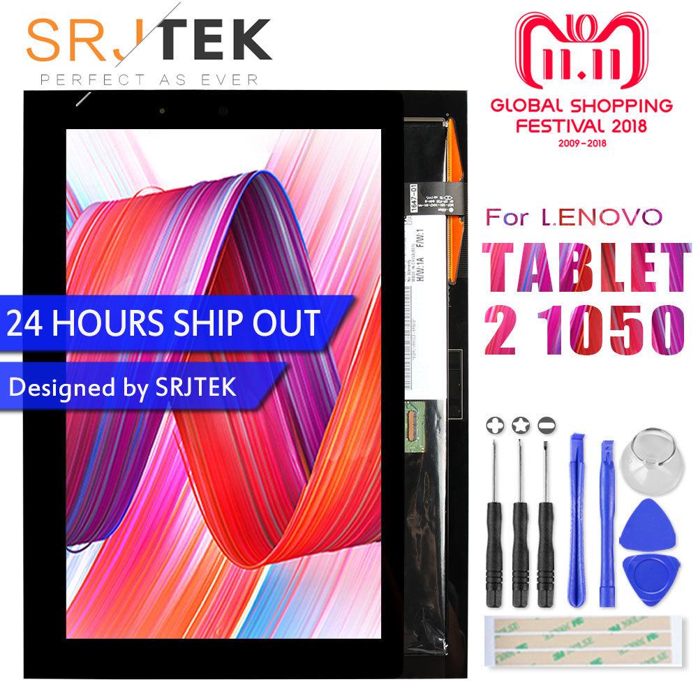 SRJTEK 10.1 Display For Lenovo Yoga Tablet 2 1050 1050F 1050L Touch Screen Digitizer LCD Display Matrix Sensor Tablet2 Assembly srjtek 10 1 display for lenovo yoga tablet 2 1050 1050f 1050l touch screen digitizer lcd display matrix sensor tablet2 assembly