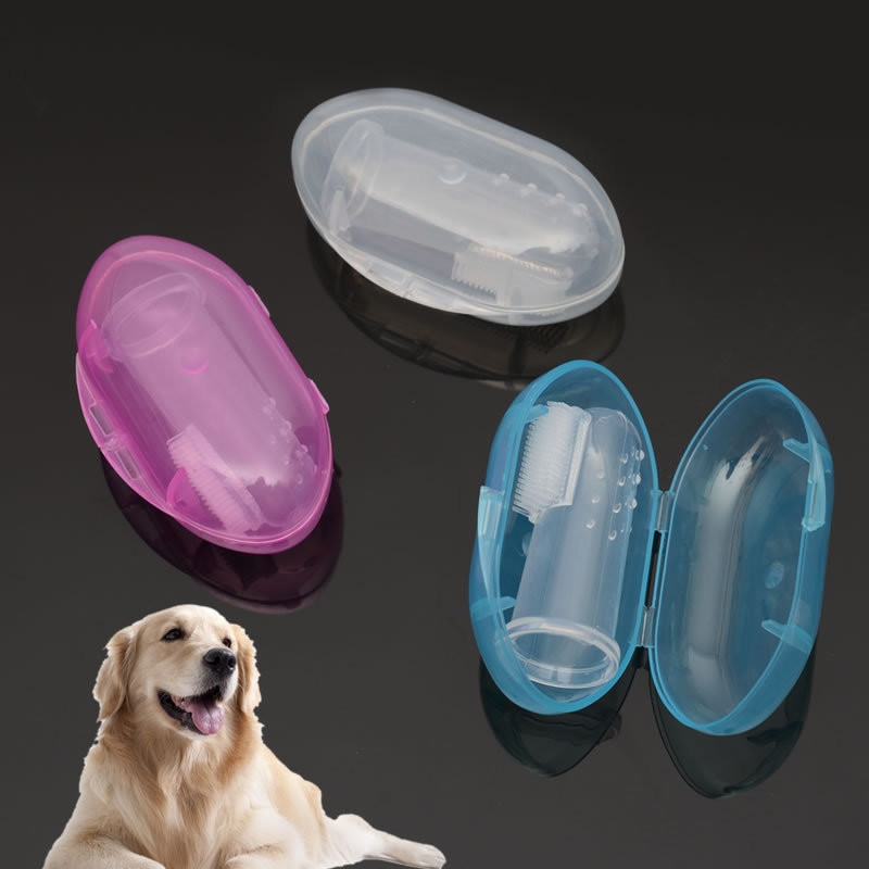 1pc Rubber Pet Finger Toothbrush Dog Toys Environmental Protection Silicone Glove for Dogs and Cats Clean Teeth Pet Accessories