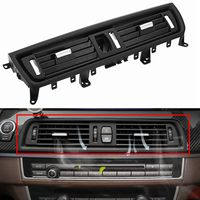 1x Car Front Console Grille Grill Dash AC Air Vent Black Fit For BMW 5Series 520 523 525 528 530 2010 2016 Fresh Air Outlet Vent