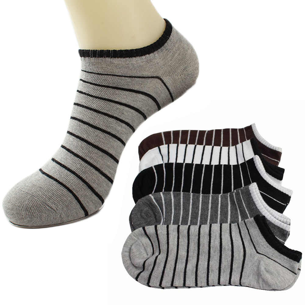 2019 fashion Comfortable 1Pair Unisex Comfortable Stripe Cotton Sock Slippers Short Ankle Socks New Arrival Breathable Soxs