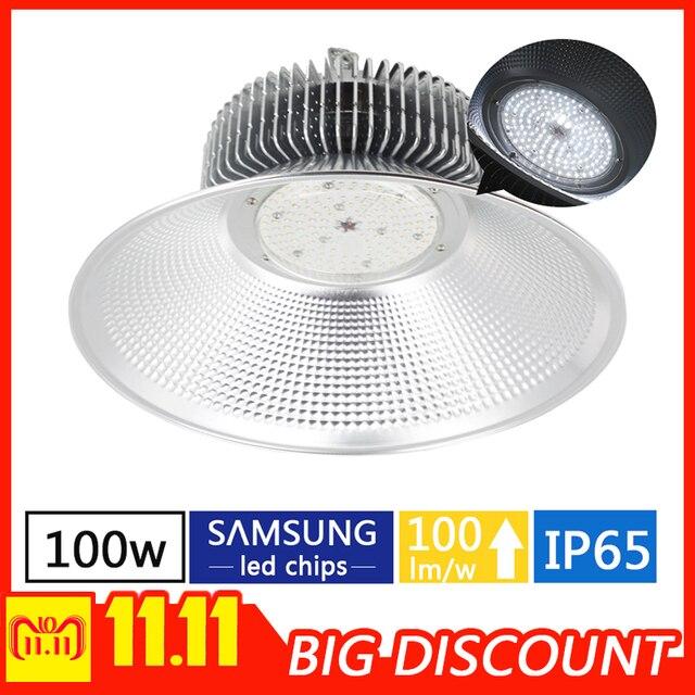 100w LED high bay lamp warehouse factory indoor industrial lighting  garage lighting 100 lm/w taller chandelier for garage light