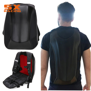 Motorcycle Fashion With Hard Shell And Streamline Appearance Large Capacity Multi-layer Design Multifunction Backpack Bags