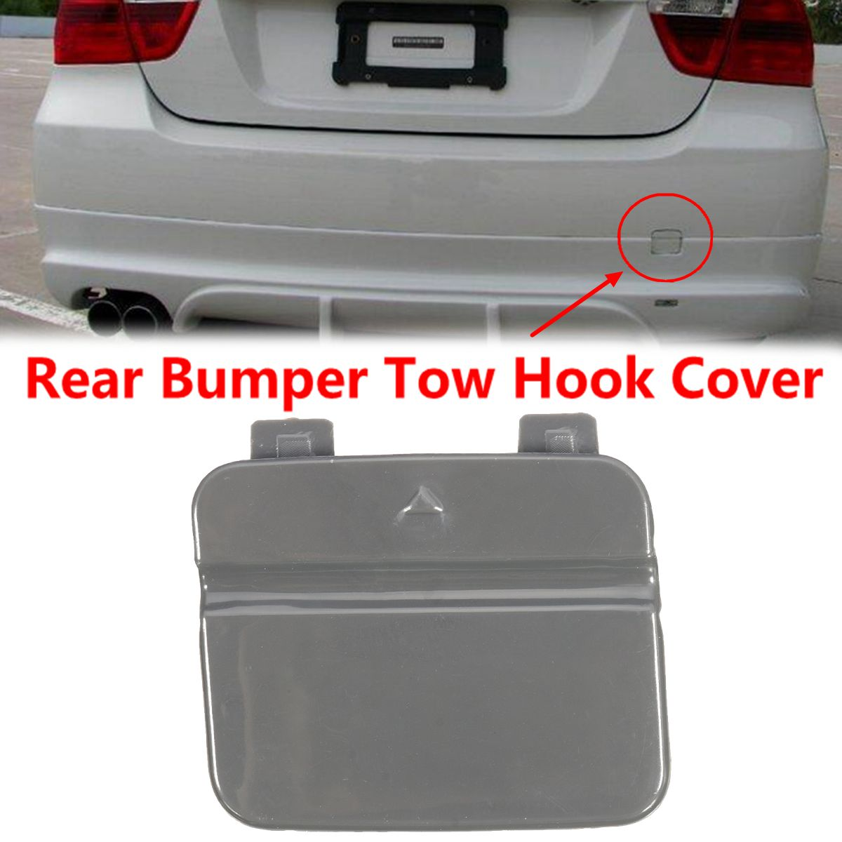 51127202673 Rear Bumper Tow Hook Cover <font><b>Cap</b></font> For <font><b>BMW</b></font> 3-Series <font><b>E90</b></font> E91 328i 335d 335i 316i 318i image
