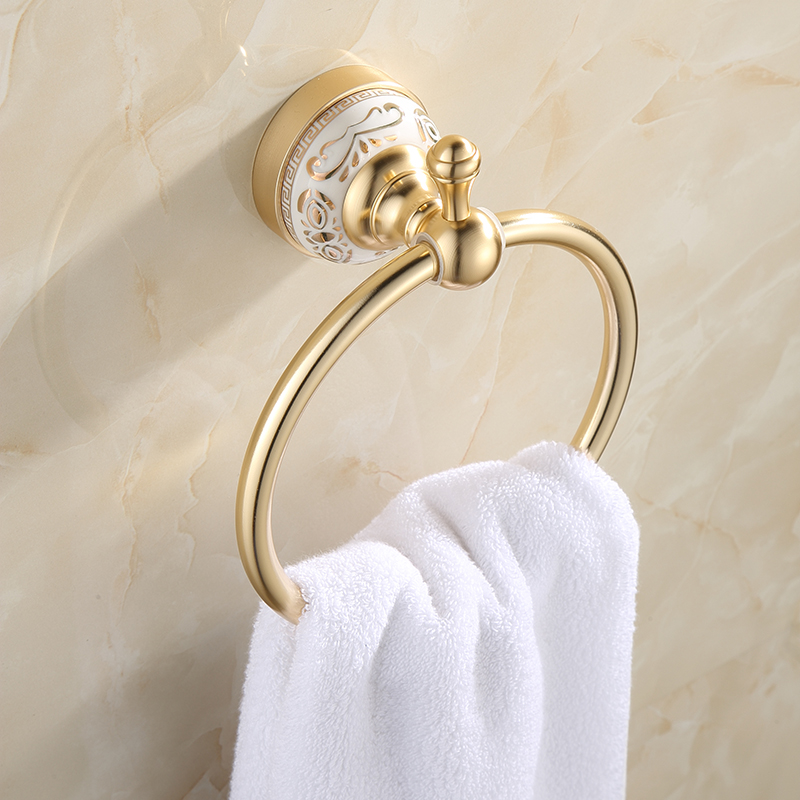 Crown Jewel Bath Set 12 Bath Towels 12 Hand Towels 12: Aliexpress.com : Buy Towel Rings Luxury Gold Towel Ring