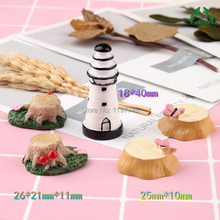 Beacon Lighthouse Stump 10pcs Resin Decoration Crafts Beads Flatback Cabochon Scrapbook DIY Embellishments Accessories Buttons