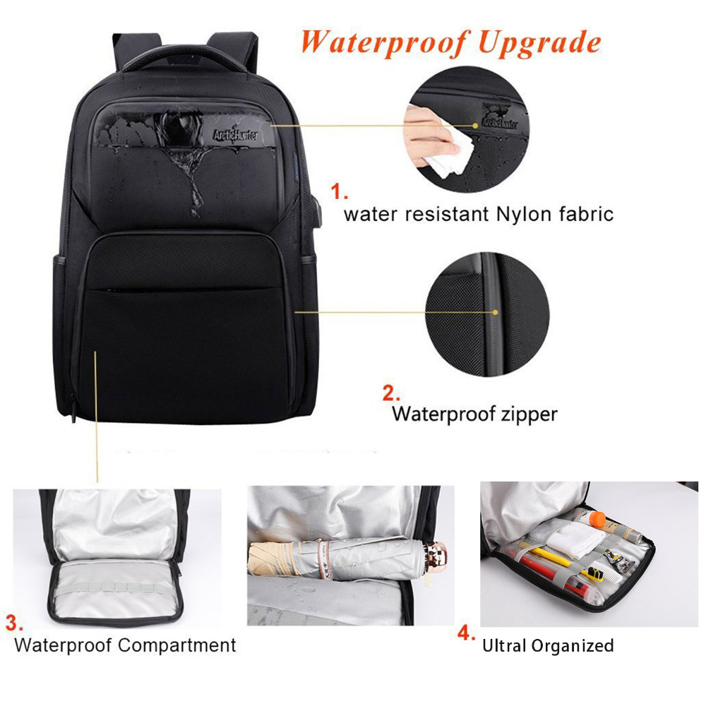 Sport Bags Covers Dsgs Arctic Hunter Travel Backpack Mens Usb Charging Security Backpack Waterproof Washing Bag Anti-vibration Computer Bag Year-End Bargain Sale