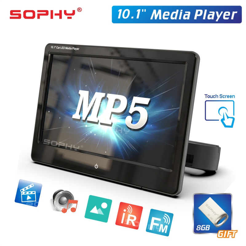 10.1 inches Car Monitor Digital LED Panel MP5 FM Mirror Link Function Touch Screen SH1028 MP5