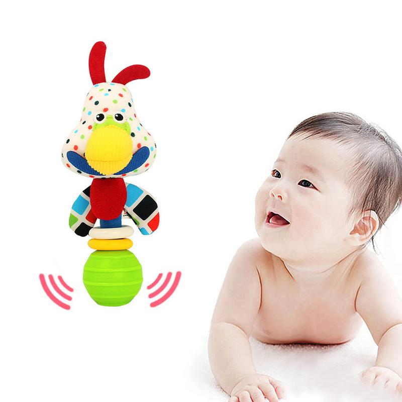 Rctown Chicks Baby Funny Rattles Cartoon Animal Teether Ball Educational Toy Newborn Gift Toy Baby Rattles & Mobiles