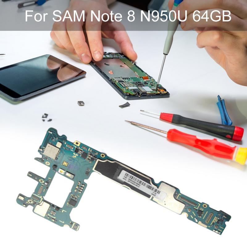 Rondaful Main Motherboard Unlocked for Samsung Note 8 SM-N950U 64G Mobile Phone