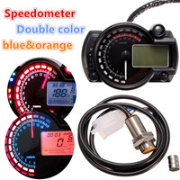 Universal Speedometer Speedos Gauge 199km/h With Backlight 999.9km Can be Reset 24 hour Real time Clock