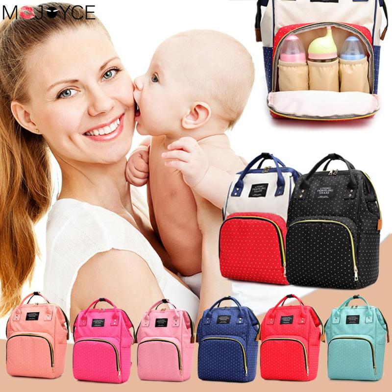 Women Casual  Backpack Arcuate Shoulder Strap Dot Print Big Backpacks Mommy Maternity Bags Travel Care Backpack New Fashion