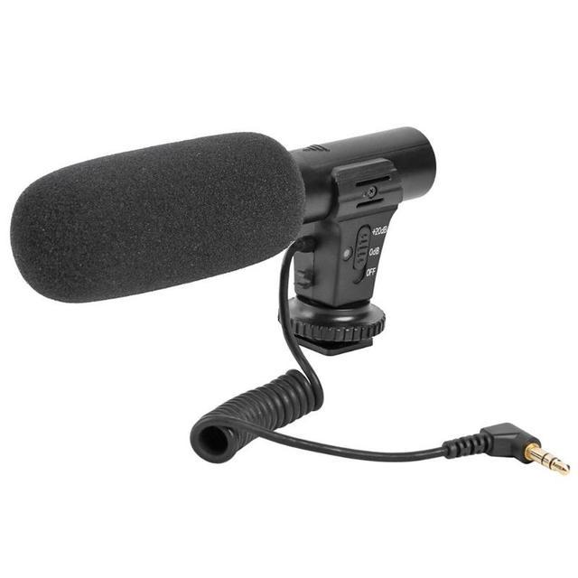 MIC 05インタビューバック極容量性マイク3.5ミリメートルマイクジャックカメラdvステレオビデオ屋外pc録音マイク