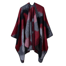 2019 autumn and winter women scarves fashion knit warm poncho cap thick large size coat for lady pashmina shawls Christmas gift