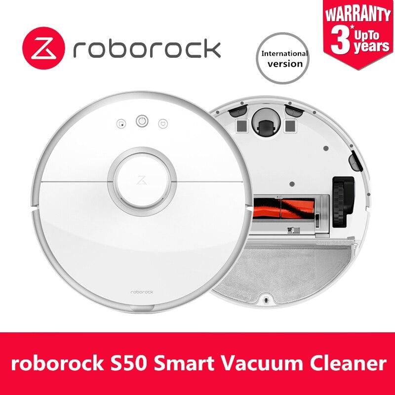 Aspirateur Robot Roborock S50 Original pour la maison balayage automatique de la poussière stériliser APP lavage Intelligent