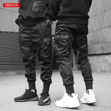 Dropshipping 2019 אביב ובקיץ חדש streamer כיס הרלן מכנסיים נוסע אלסטי מותניים גברים של מכנסי טרנינג מכנסיים טקטיים