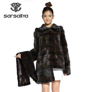 Image 2 - אמיתי פרווה מעיל נשים בתוספת גודל טבעי מינק פרווה מעיל עם ברדס נשי ארוך אמיתי מינק מעילי גבירותיי וינטג Oversize בגדים