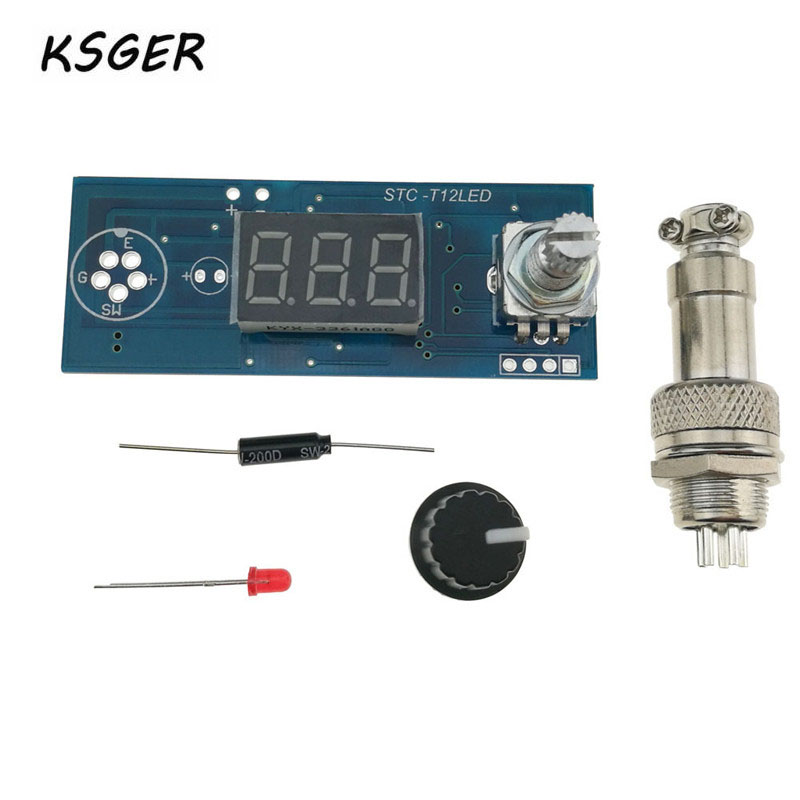 New T12 STC LED Electric Unit Digital Soldering Iron Station Temperature Controller DIY Kit For T12 LED Vibration Switch