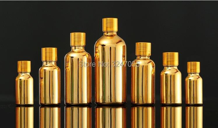 5ml10ml15ml20ml30ml50ml100ml High Grade Gold Glass Essential Oil Containers, Empty Beauty Perfume Bottle, Cosmetic Serum Vials
