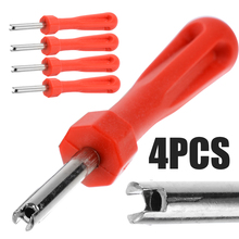 Treyues 4pcs Universal Bicycle Tyre Valve Core Remover Removal Bike Wrench Tire Repair Tool Screw Driver