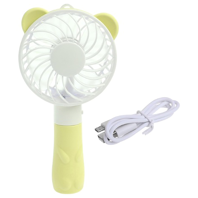 Gut Handheld Tragbaren Ventilator Usb Lade Mini Fan Nette Cartoon Bär Lade Lüfter Outdoor Tragbare Fan Haushaltsgeräte